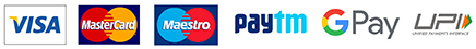 Pay via Paytm / Wallets / NetBanking / Cards / UPI / EMI